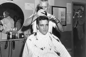 Elvis gets a haircut