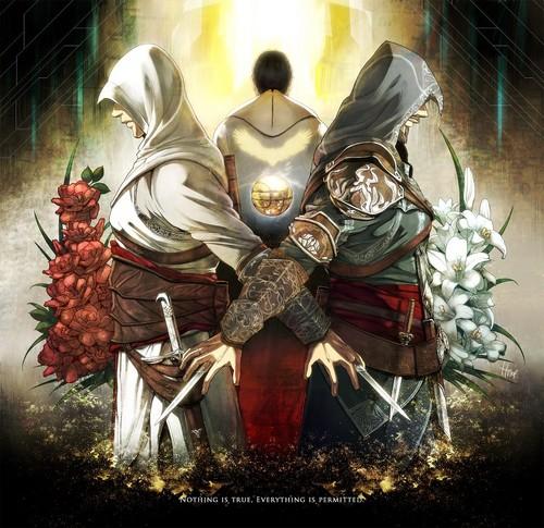 Ezio, Altair, Desmond