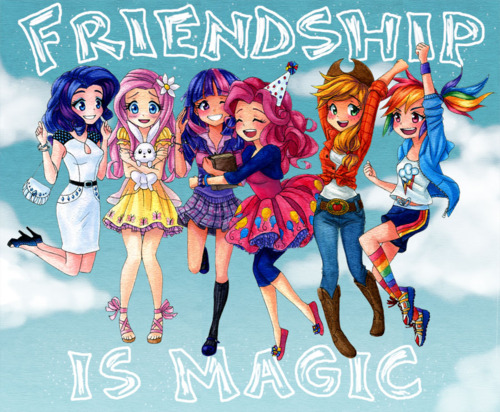 Friendship is Magic- The Ponies as Humans