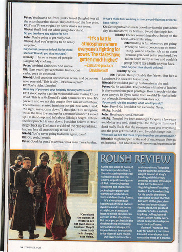 Game of Thrones- TV Guide 기사 Scan