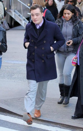 Gossip Girl Set - March 27, 2012.