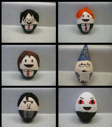 Hard-Boiled Eggs as Harry Potter