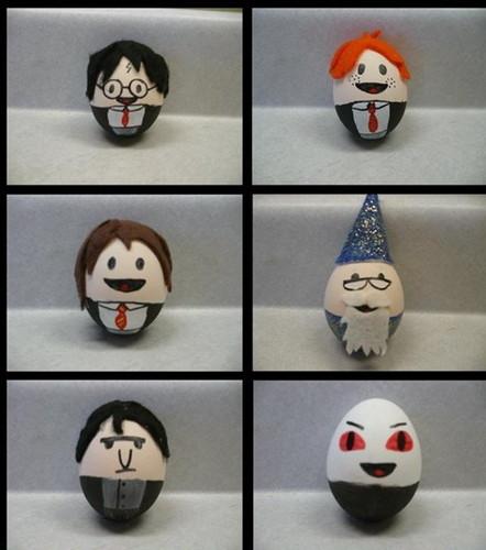 Hard-Boiled Eggs as Harry Potter