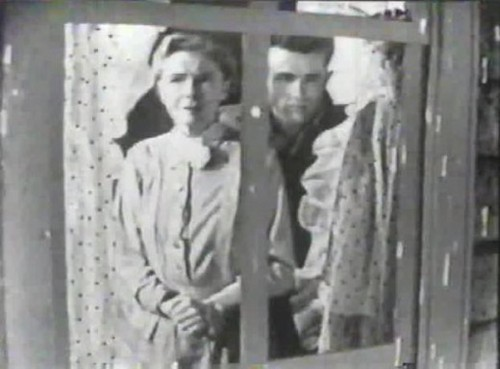 "James Dean with Dorothy Gish in ""Harvest"""