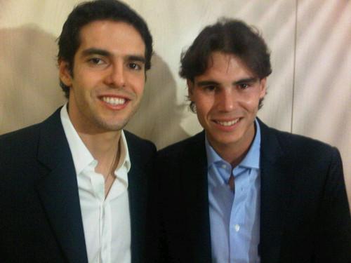 Kaka and Rafa Nadal