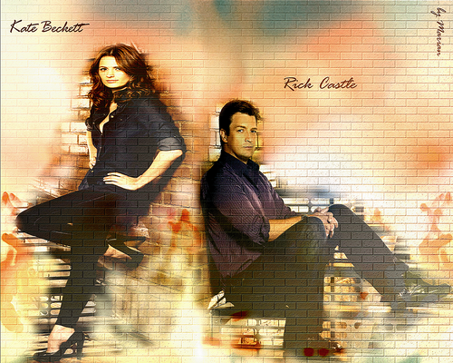 Caskett wolpeyper titled Kate Beckett&Richard kastilyo