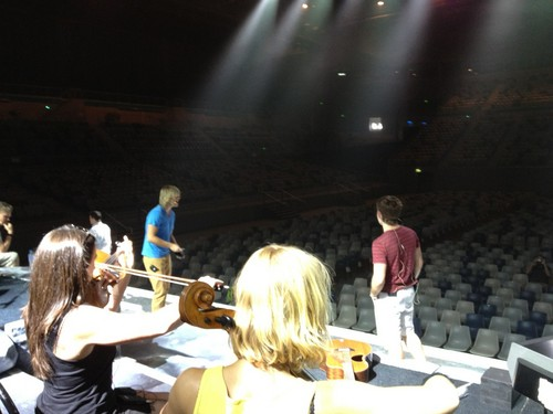 Keith and Emmet rehearsing in Melbourne