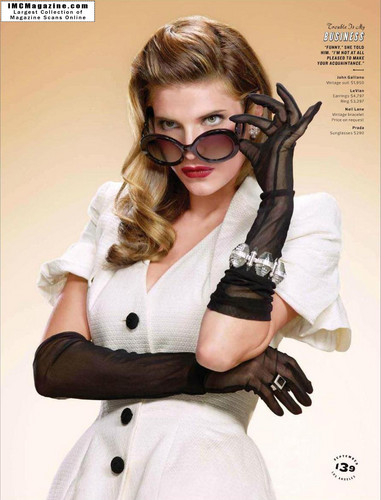 Lake Bell wallpaper containing sunglasses titled Lake in Los Angeles Magazine - September 2011