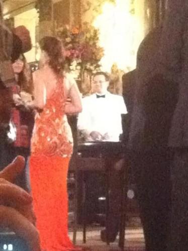 Leighton Meester on the set of Gossip Girl s5 (season finale)