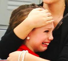 Maddie in tears