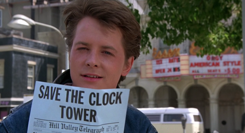 Marty McFly wallpaper probably containing a street and a sign entitled Marty McFly