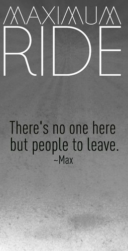 Maximum Ride 바탕화면 possibly with a sign called Maximum Ride Quote