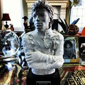 MJ Statue Jaafar Jackson at his grandma Katherine's house (jaafar's instagram jaafarjackson25) - michael-jackson photo