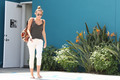 Miley -28. March- Leaving her Pilates Class in West Hollywood