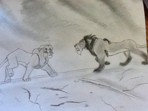 My Drawing of Adult Simba & Scar