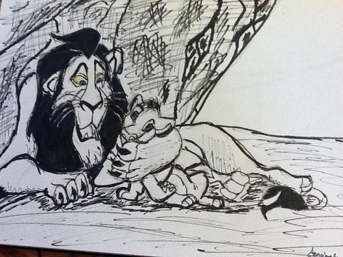 My Scar & Simba Drawing