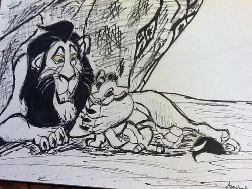 Der König der Löwen Hintergrund with Anime called My Scar & Simba Drawing