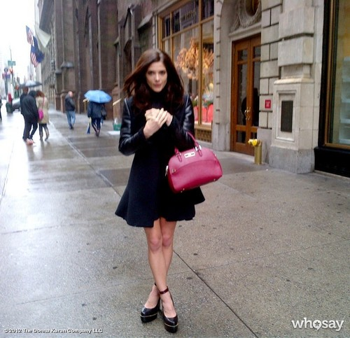 New behind the scenes picha of Ashley on her DKNY Fall 2012 photoshoot.