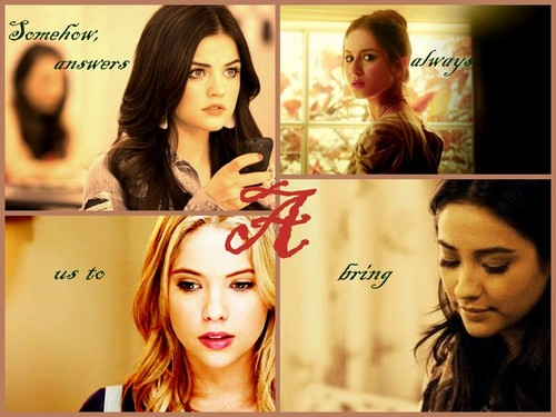 Pretty Little Liars Hintergrund containing a portrait titled PLL