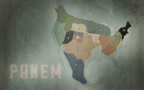The Hunger Games achtergrond probably containing a sign entitled Hunger Games Panem Map