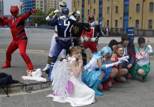 Power Rangers and Sailor Moon