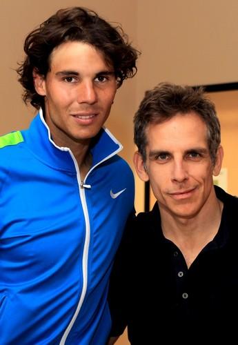 Rafa Nadal and Ben Stiller