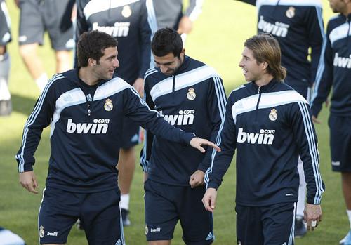 Ramos,Albiol and Higuain
