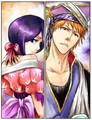 Rukia and Ichigo - anime fan art