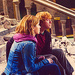 Rupert and Emma on set of Harry Potter - rupert-grint-and-emma-watson icon