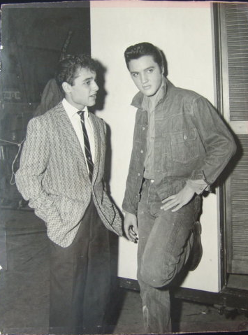 Sal Mineo and Elvis Presley