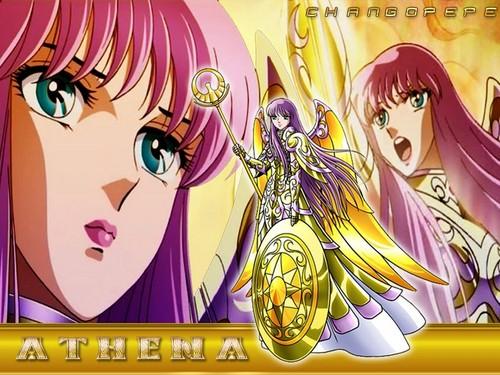 Saint Seiya (Knights of the Zodiac) fondo de pantalla possibly with anime titled Saori (Athena)