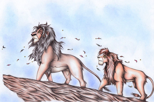 Scar and Kovu - scar Fan Art
