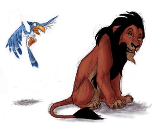 Scar and Zazu