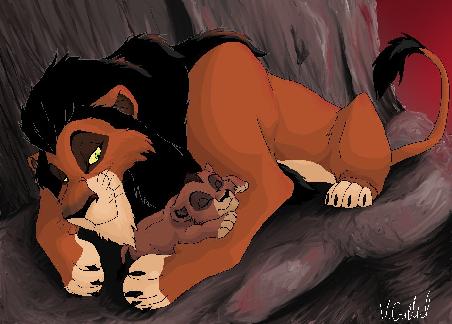 Scar and baby kovu