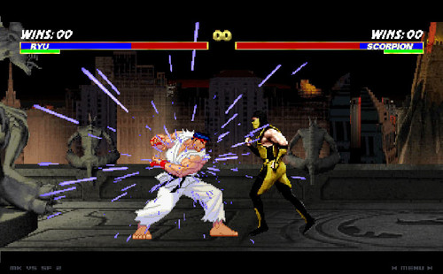 улица, уличный Fighter and Mortal Kombat