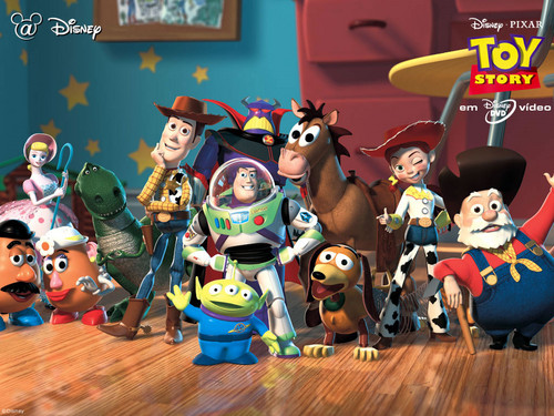 Toy Story 2 Wallpaper Possibly Containing Anime Called The Gang