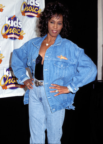 Whitney Houston wallpaper probably containing long trousers, an outerwear, and a sweat suit entitled Whitney