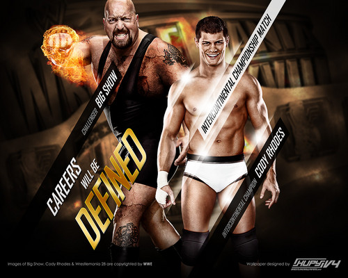 Wrestlemania 28:Big tunjuk vs Cody Rhodes