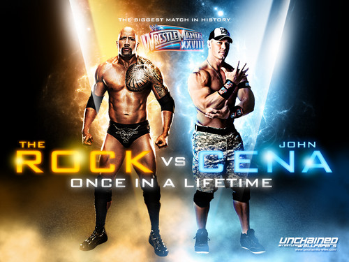 Wrestlemania 28:The Rock vs John Cena