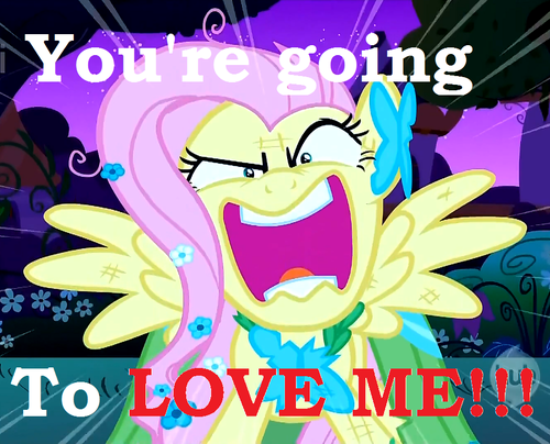 You're going to amor FLUTTERSHY! XD