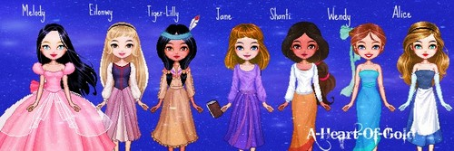 Young Heroines of Disney wallpaper entitled Young Heroines