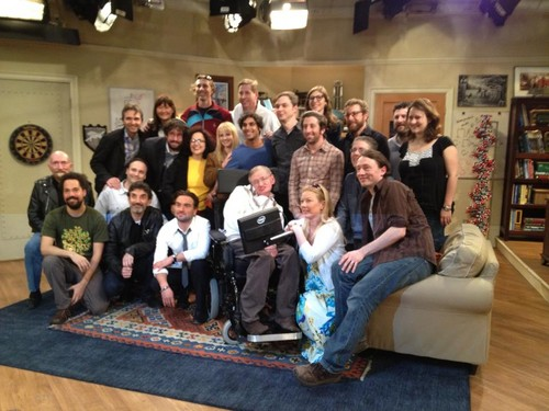 cast with Stephen Hawking