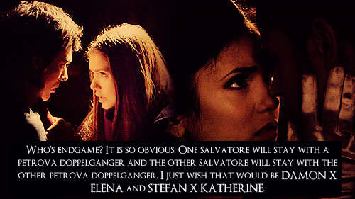 damon x elena and stefan x katherine