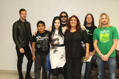 Evanescence with the fans
