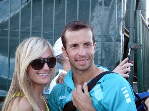 hot blonde girl and Radek Stepanek