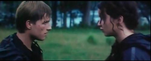 Peeta Mellark and Katniss Everdeen wallpaper with a portrait called k and p