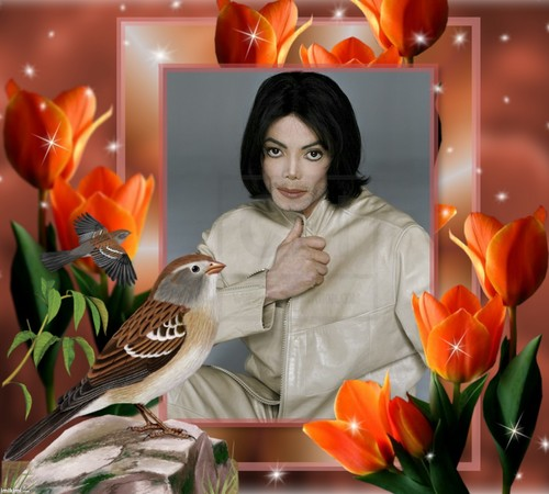 Michael Jackson wallpaper probably with a sparrow, a wren, and a mockingbird entitled Майкл