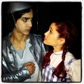 A&A On Set - avan-jogia-and-ariana-grande photo