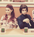 A&amp;A On Set - avan-jogia-and-ariana-grande photo