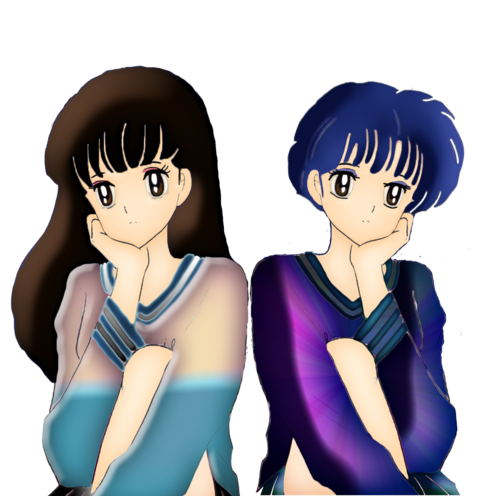 Akane Tendo and Kagome Higurashi_ Side door Side